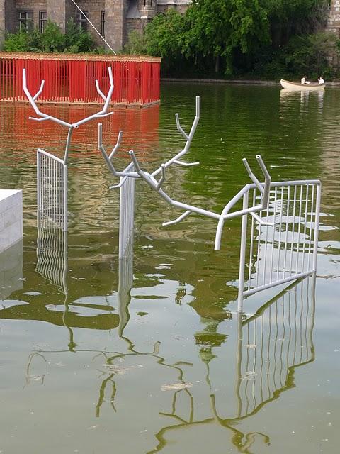 Kristoff Kintera's police barriers sprouting antlers. (Photo: Stefan van Drake (c) 2011)