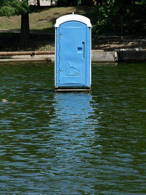 Via Lewandowsky set a plastic outhouse in an inconvenient location.