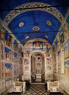 Giotto's Scrovegni Chapel frescoes, Padua, 1303-05.