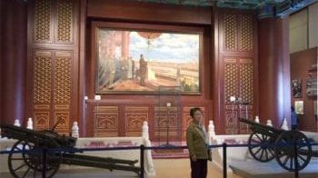 Mao Declares the Founding of the People's Republic of China, a painting on which Jin Shangyi collaborated, on display in the newly expanded National Museum in Tiananmen Square. (Photo by Jason Edward Kaufman (c) 2011)