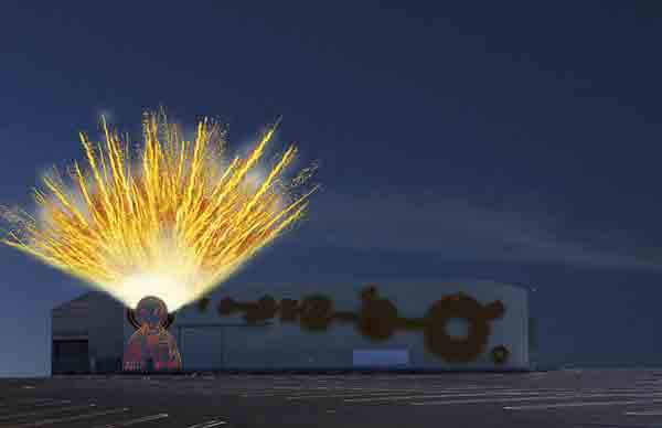 Cai Guo-Qiang 2012 LAMoCA Explosion Event