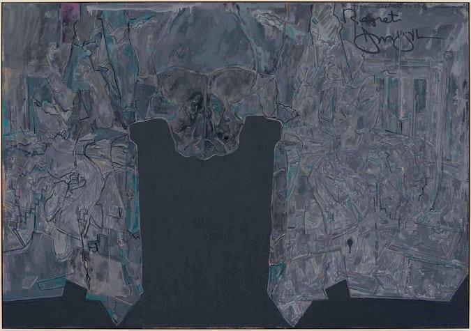 Jasper Johns, Regrets (2013), oil on canvas