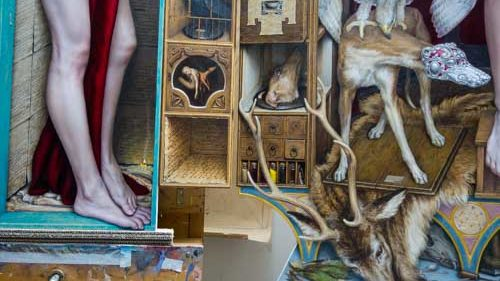 Dino Valls triptych (detail) - Photo by Jason Edward Kaufman © 2020