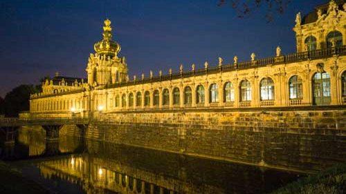 Zwinger at night, Dresden - Photo by Jason Edward Kaufman © 2020
